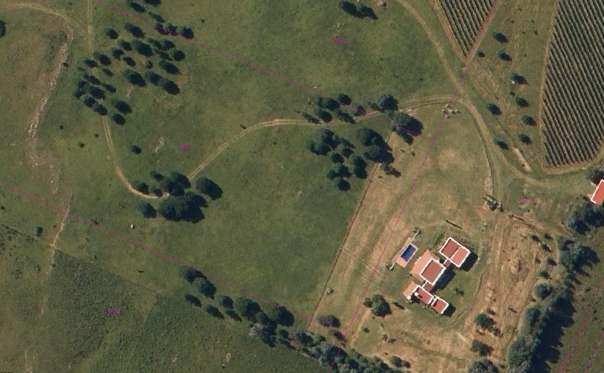 foto aérea Casco y Viñedos