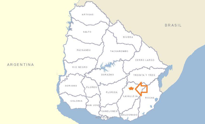 ubicación en el Uruguay gral.