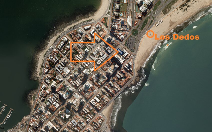 foto aéra ubicación en península