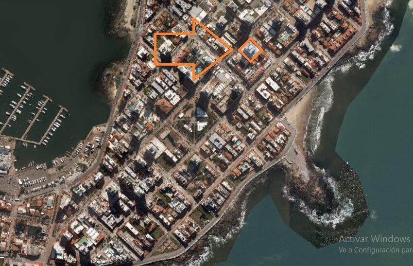 foto aérea ubicación en península