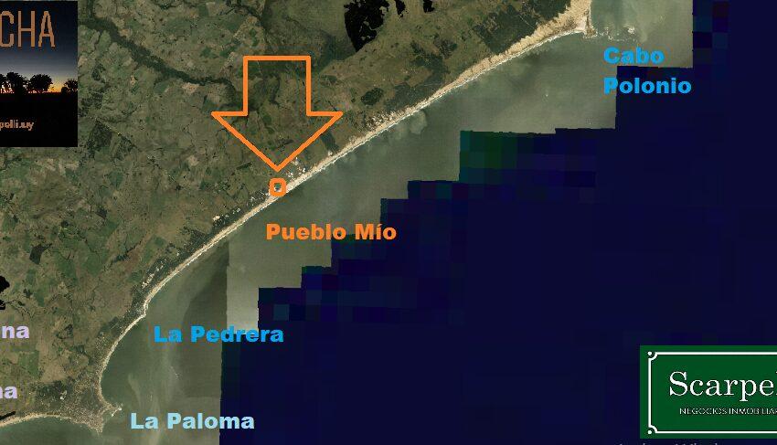 Foto Aérea Playa La Pedrera - Cabo Polonio. Ubic. Pueblo Mío