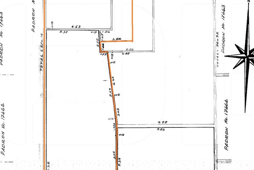 plano local 001 La Paz y Arenal Grande