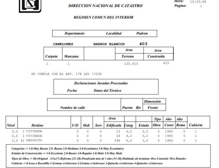 ced. Catastral R. 8 Miguel Gremolich