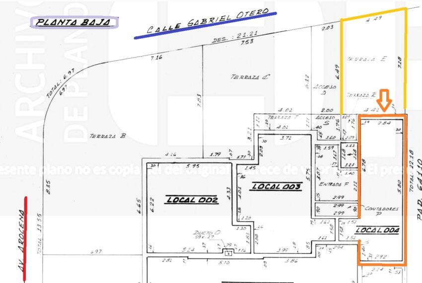 plano local Unidad 004 Gabriel Otero casi Arocena