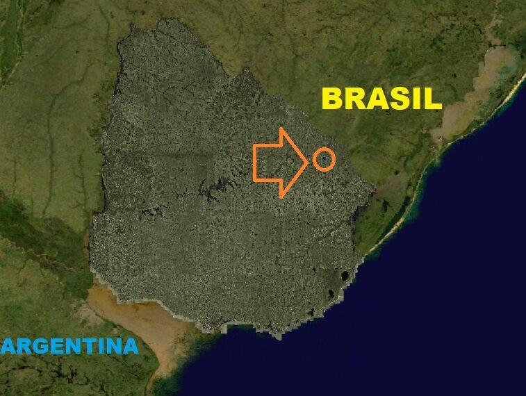 ubicaciòn en Uruguay
